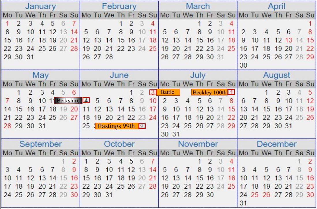 H42001 by Calendar